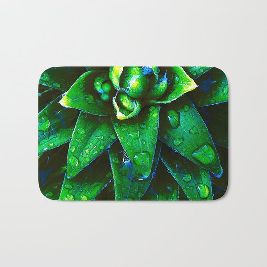 Morning Dew On Plant Bath Mat