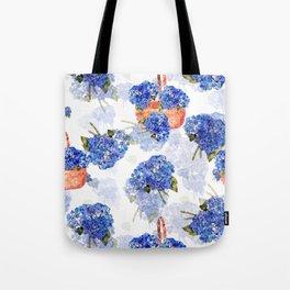 Cape Cod Hydrangeas and Baskets Tote Bag