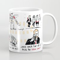 shaun of the dead Mugs featuring Shaun of the Dead by Rob O'Connor