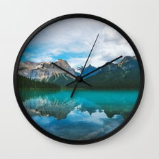 The Mountains and Blue Water Wall Clock