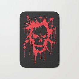 Bloody Skull | Heavy Metal Illustration Bath Mat