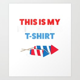 Fireworks Director Kids Men 4th Of July Party Gift T-Shirt Art Print