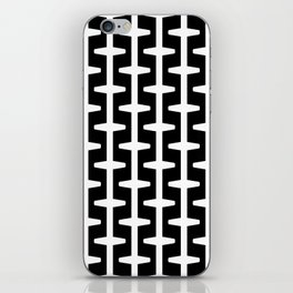 Geometric Pattern 207 (black white) iPhone Skin