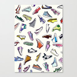 sneakers addiction Canvas Print