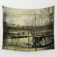beaver Wall Tapestries featuring Beaver Pond ~ Ginkelmier Inspired  by Ginkelmier