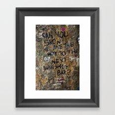Show me the way Framed Art Print