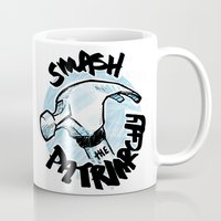 patriarchy Mugs featuring Smash the Patriarchy  by Maura McGonagle