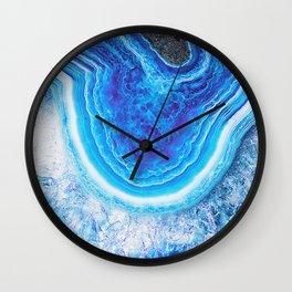 Blue agate 0397 Wall Clock