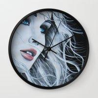 jennifer lawrence Wall Clocks featuring Jennifer Lawrence  by BrandonScott