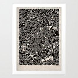 - blackout - Art Print
