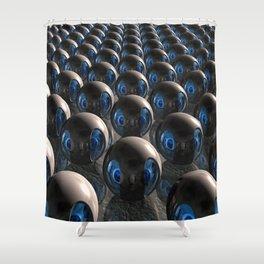Alien Invasion At Dawn Shower Curtain