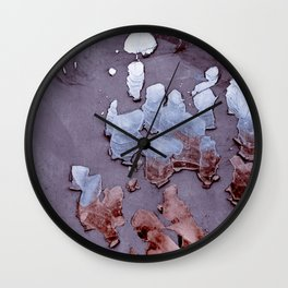 Abstract Chipped Paint In Cool Tones Wall Clock