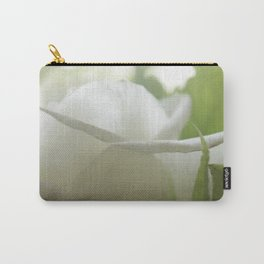 white and green flore Carry-All Pouch