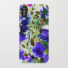 Evie Floral Olive iPhone X Slim Case