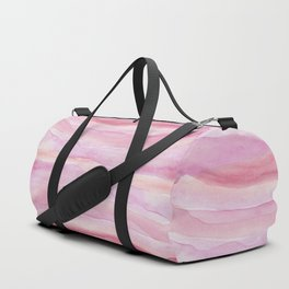 Pink Layers Watercolor Duffle Bag