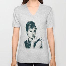 My Hepburn Unisex V-Neck