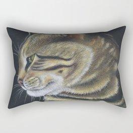 Arnie The Cat Colored Pencil Rectangular Pillow