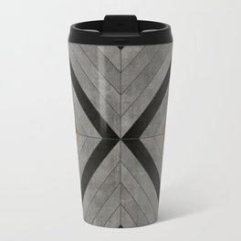 Urban Tribal Pattern 2 - Concrete and Wood Travel Mug
