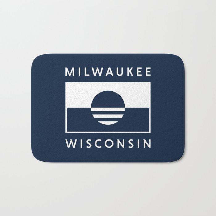 Milwaukee Wisconsin - Navy - People's Flag of Milwaukee Bath Mat
