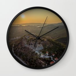 Agios Georgios Castle Kefalonia,Greece Wall Clock