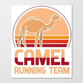 Camel running team - Kamäle, jogging Canvas Print