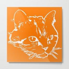 Duke the Orange Gentleman Cat Metal Print