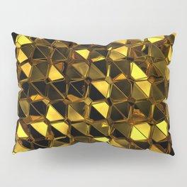 Golden Polygons 02 Pillow Sham