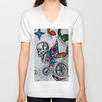 cycle V-neck T-shirts featuring cycle by Maithili Jha