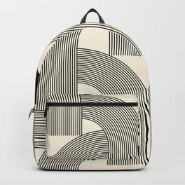 Abstraction_SUNLIGHT_SUNSHINE_LINE_POP_ART_Minimalism_001A Backpack