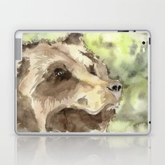 watercolor bear Laptop & iPad Skin