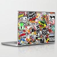 sticker Laptop & iPad Skins featuring Sticker Bomb by SOPHIA FREITAS