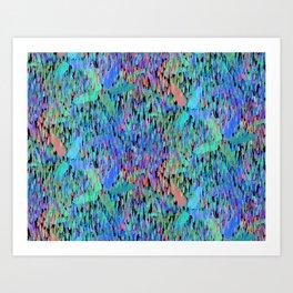 April Showers | Multi on Black Art Print
