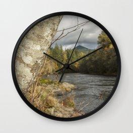 Bark and Autumn Wall Clock