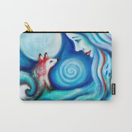 Girl Fox & Moon Carry-All Pouch