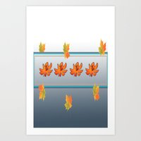 fall flower Art Print