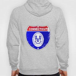 Connecticut  Interstate Sign Hoody