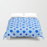 polka dots Duvet Covers featuring Polka Dots by Texture