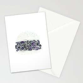 diamond burger Stationery Cards