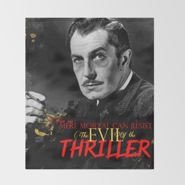 The Evil of the Thriller, Vincent Price Throw Blanket