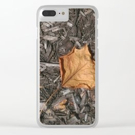 Autumn Leaf Clear iPhone Case