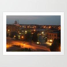 Holland, Michigan At Night Art Print