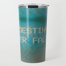 Analogue Glitch 'Destiny Never Falters' Travel Mug