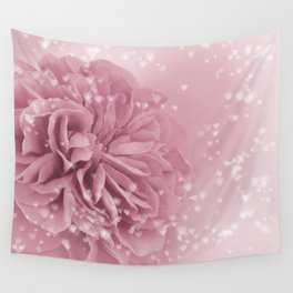 Light Pink Rose with hearts #1 #floral #art #society6 Wall Tapestry