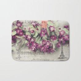 Crabapple Tree Postcard Art Design Bath Mat