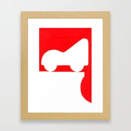Parkway in Red Framed Art Print