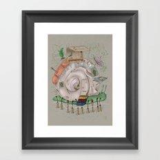 One man's trash - Snailer Park Framed Art Print