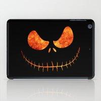jack skellington iPad Cases featuring Jack Skellington Halloween Smile Flame by alexa