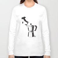 italian Long Sleeve T-shirts featuring Italian coffee by LuiSegni