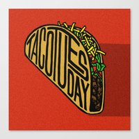 taco Canvas Prints featuring Taco Tuesday by Gracie Wilson