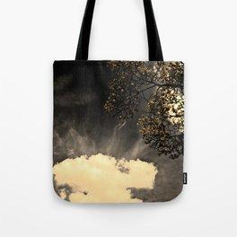 a dark day,, Tote Bag
